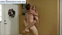 Wenona in hot milf mom challenges son to wrestl... thumb