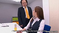 Obedient Japanese secretary works hard for a mouthful of cum pornhub video