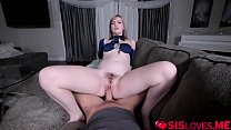 Dolly Leigh loves riding her stepbros huge cock! thumb