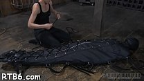 Leather pet gets her suffocating mask removed pornhub video