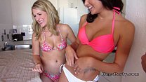 Hot amateur babes fucking at home party