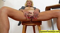Curvy milf riding a huge fake penis thumbnail
