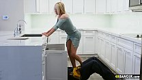 The clog is not in the sink but in Nikki Benz's Pussy, so better work on that!