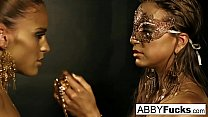 Gold Statues come to life and eat each other out!