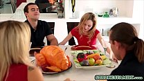 Little cute stepsister seduces her confused ste...