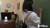 Asian Schoolgirl Lana Violet Gets Fucked By Teachers Big Black Cock thumbnail
