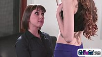 Boss Shyla Jennings is licked by assistant Jenn...