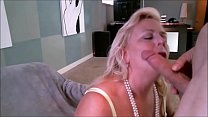 Blonde Milfy Getting a Mouthful of hot and tast...