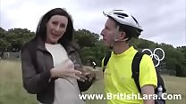 British milf picks up cyclist amateur for sex
