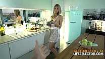Your petite GF Gina shows off with her 'cooking' skills preview image