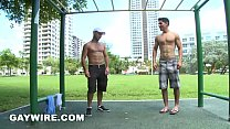 GAYWIRE - Al Carter and Justin Phoenix Work Out And Fuck Out In Public (Miami Beach)
