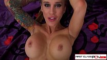 Sarah Jessie hair are wet and her pussy is read...