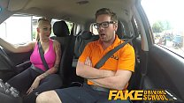 Fake Driving School Big Tits babe Fucks her instructor to pass her test صورة