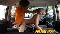 Fake Driving School Big Tits babe Fucks her ins...