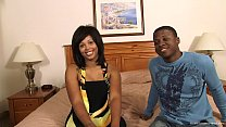 Kinky black couple fuck on camera for the first...