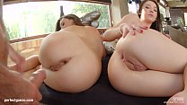 Angelik Duval and Tiffany Doll in ass banger anal threesome scene by Ass Traffic Thumbnail