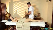 Massage Babe Gives Head