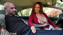 ADULT TIME - Your Boober Is Here! Titty Fucking Busty MILF Krissy Lynn In The Car