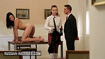 Drawing lesson to threesome with Taylor Sands a...