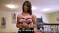 Busty waitress Chintia Doll gets pussy banged f...
