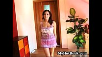 Sensual Jane is a gorgeous brunette with a rockin's Thumb