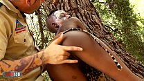 African Sex Safari with skinny ebony babe fucking white guy - download porn videos
