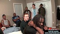 Young guys get covered in loads of hot cum - Bukkake Boys 02