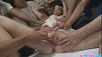 Mega gangbang fucked the hell out of little Ito Aoba [갱뱅 gangbang]