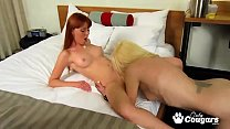 Kiara Diane and Marie McCray Eat Some Worm Pussy Pie Image