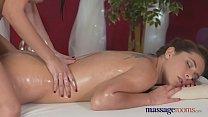 Massage Rooms Young perfect bodied lesbians fin...