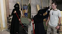 TOUR OF BOOTY - Muslim Woman Sweeping Floor Get... thumb