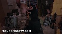 7569 TOUR OF BOOTY - Muslim Woman Sweeping Floor Gets Noticed By Horny American Soldier preview