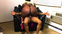 14350 Ebony Big Booty Stripper Came Over For A Fucking preview
