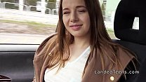Teen hitchhiker sucks and fucks in a car Image