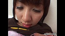 Horny Japanese teen fingers her delicious wet snatch thumbnail