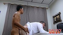 Asian Twink Alex And Daddy Having A Anal Sex In