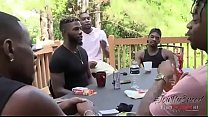 Several black guys fuck each other