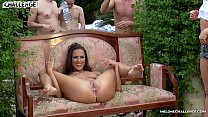 Melonechallenge Mea Melone & Wendy Moon fuck spanish guys in big orgy outdoors video