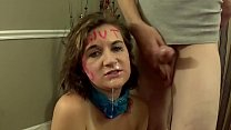 Brunette Tied Up and Facefucked By Dom - KIM STROKER