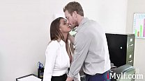 MILF gets the job by fucking the BOSS-Brooklyn Chase's Thumb