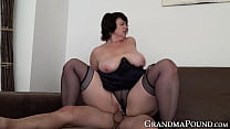 Mature babe pussy filled up with cock after blo... Thumbnail