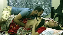 Indian horny unsatisfied wife having sex with BA pass caretaker:: With clea