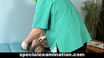 Gyno exam for young blonde صورة