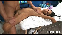 Fascinating hottie loves massage thumb