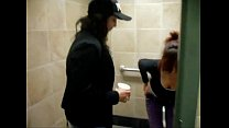 2 Girls Fooling In The Bathroom Stall
