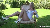 Busty seduction named Lexi Lowe masturbates in the outdoors until she cums