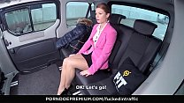 FUCKED IN TRAFFIC - Hot Czech redhead Chrissy Fox takes cock in the backseat of the car