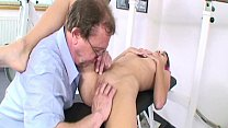 Very hot amateur stepdaughter in pantyhose fingered licekd & fuckedf in wet cunt thumbnail