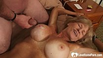 Lucky stud fucks an incredibly horny MILF Thumbnail
