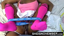 18659 Hardcore Hot Nasty Little Ebony Bitch Msnovember In Skirt Getting Pussy Fuck Sheisnovember HD preview